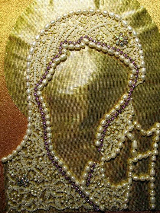 Вышивка бисером оклад